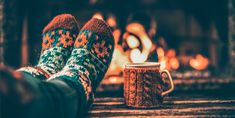 Feet in woollen socks by the Christmas fireplace. Woman relaxes by warm fire with a cup of hot drink and warming up her feet in woollen socks. Close up on feet. Winter and Christmas holidays concept. Meditation Practices, Guided Meditation, Woolen Socks, Egg Donation, Christmas Fireplace, Mindfulness Practice, Feeling Stressed, Abdominal Pain, How To Stay Healthy