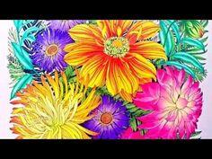 Flower Coloring Process #2 | Floribunda coloring book - YouTube