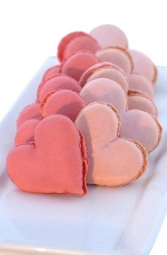 heart macaroons #val