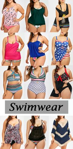 Keyhole Anchor Zigzag Plus Size Tankini Set
