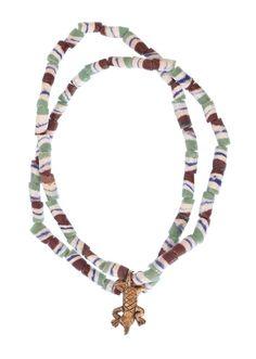 African Glass Krobo Necklace #1370 | Necklaces | Jewelry — Deco Art Africa - Decorative African Art - Ethnic Tribal Art - Art Deco