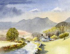 Landscape Watercolor Watercolour Painting | Enlivening your landscapes