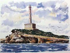 El Faro de Cabo de Palos by Zacarias Cerezo