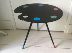 by Eddystone on Etsy Tripod, Mid-century Modern, Palette, Mid Century, Handmade Gifts, Artist, Table, Etsy, Furniture