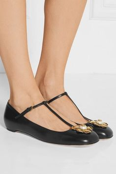 Heel measures approximately 10mm/ 0.5 inches Black leather Buckle-fastening strap Made in Italy Large to size. See Size & Fit notes.