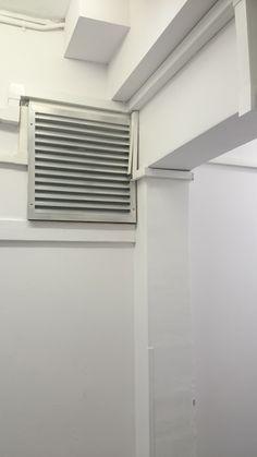 Vent behind boiler in hallway room Site Visit, Boiler, Blinds, Home Appliances, Curtains, Room, Home Decor, House Appliances, Bedroom