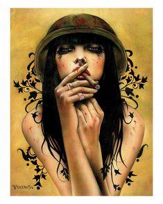Artist: Brian M. Viveros  ~  Image Title: Smokin' on the Job