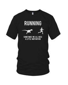 workout shirts with sayings | Amazon.com : Womens Running Motivation Raptor Shirt funny dinosaur t ...