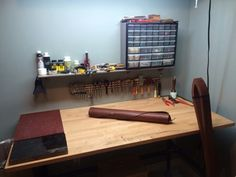 Organized Leatherwork Space