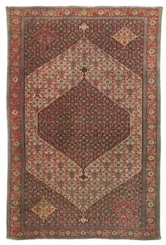SENNEH RUG  WEST PERSIA, CIRCA 1880  Woven on multicoloured silk warps, full pile, a few small repairs, selvages replaced with occasional loss, each end secured 6ft.7in. x 4ft.5in. (201cm. x 135cm.)
