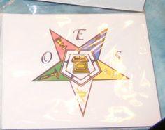 OES plain star note card