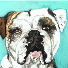 custom pet portrait by wildreverie on Etsy