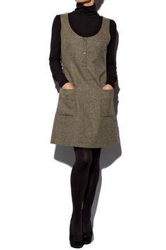 Tweed Pinafore Dress