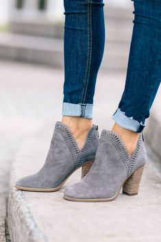 These booties are a great transition bootie from winter to spring!