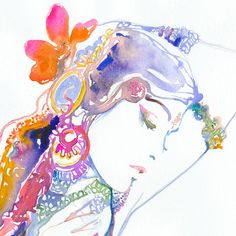 Archival Fashion Prints of Watercolor by silverridgestudio on Etsy