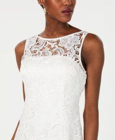 Adrianna Papell Illusion Lace Sheath Dress - Ivory/Cream 20 Review Dresses, Size 14 Dresses, Dresses Online, Lace Sheath Dress, Adrianna Papell, Trendy Plus Size, Dapper, Trendy Fashion, Illusion