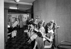 Women at the beauty salon inside the Darling Building on 320 South Main Street, June 30, 1950. Courtesy Salt Lake Historical Society