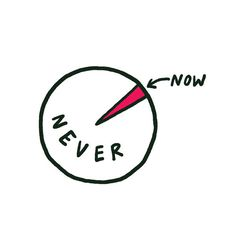 Now or never (temporary tattoo).