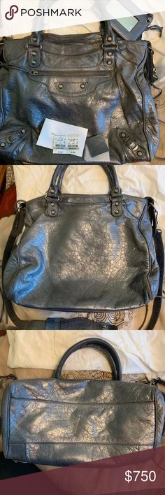 3edfed8ba1 Balenciaga Velo Crossbody In anthracite Bag is in good condition and has  regular wear. Nothing