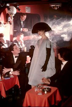 Fashion by Givenchy for Jardin des Modes 1958  Photo by Frank Horvat