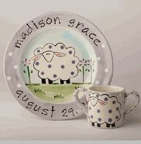 Once Upon a Name personalized plate and cup sets