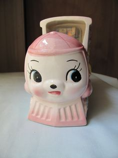 Vintage Ceramic Planter Music Box