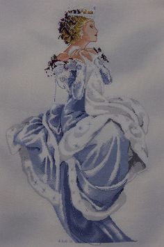 'Winter Queen' cross stitch pattern by Mirabilia designs by acropolis33