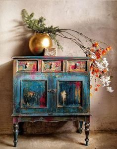 Boho Style Furniture Designs to Enhance the Beauty of Home If you are one of them, who desire to renovate his house with boho style furniture then, you are effortlessly bringing culture and life … Hand Painted Furniture, Funky Furniture, Refurbished Furniture, Paint Furniture, Upcycled Furniture, Unique Furniture, Shabby Chic Furniture, Furniture Projects, Rustic Furniture