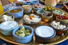 11 things NOT to do in Israel. Also expect breakfast to be large, as in photo. Breakfast Dishes, Breakfast Recipes, Israeli Breakfast, Netherlands Food, Christmas Food Gifts, Mexico Food, Fries In The Oven, Morning Food, Porto