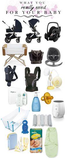 Dinge, die du wirklich für die erste Zeit mit Baby brauchst  // what you really need for your baby