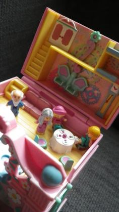 polly-pocket-vintage-Funtime-clock-100-complete-and-working-1991