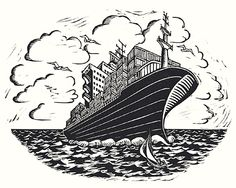 How to make a container ship look romantic. Created for Aurum Press