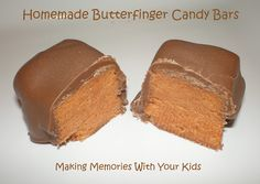Homemade Butterfinger Candy Bars - Making Memories With Your Kids