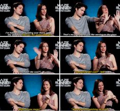 Dylan O´Brien and Kaya Scodelario - The Death Cure cast