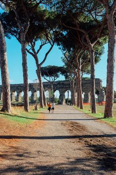 Parco degli Acquedotti - a park full of ancient aqueducts in Rome, Italy