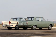 """Simca Chambord and Simca Esplanada, made in Brazil by Simca.  In the late 60s, Chrysler Motors took the control of the brazilian branch of the french Simca; the lastests versions of his model """"Esplanada"""", were produced until 1969, when there was replaced by """"Dodge Dart"""", the brazilian equivalent of the american Dodge Valiant. Photo take by Zé Rodrix Octavio; Courtesy: Flávio Gomes."""