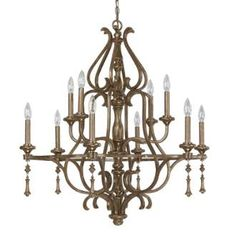 """View the Capital Lighting 4980-000 10 Light 34"""" Wide Chandelier from the Avignon Collection at LightingDirect.com."""