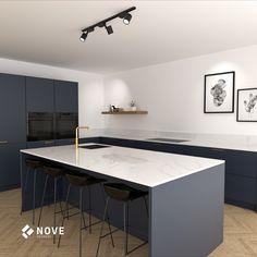 Kitchen Room Design, Home Room Design, Kitchen Cabinet Design, Modern Kitchen Design, Kitchen Decor, Hidden Kitchen, New Kitchen, Gold Kitchen, Garage To Living Space