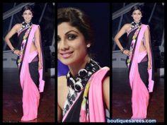 shilpa shetty in shivan and naresh saree