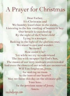 A Prayer for Christmas