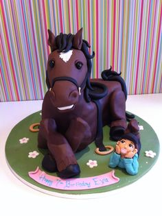 Adorable Little Cowboy and Horse Cake Cowgirl Cakes, Western Cakes, Birthday Cake For Him, Horse Birthday, 28th Birthday, Happy Birthday, Pretty Cakes, Beautiful Cakes, Amazing Cakes