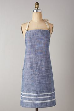 Brushed Chambray Apron @ anthropologie