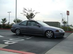 Lowered (Ms. Eh3) Tags: honda civic 1995 coupe hondacivic ej1 hgm