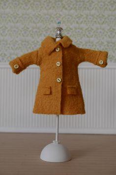 felt doll coat