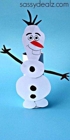 Frozen Olaf Toilet Paper Roll Craft for Kids - Crafty Morning - - Learn how to make a cute Frozen Olaf toilet paper roll for kids! This Olaf art project is so fun because kids can make him dance and walk! Crafts To Do, Holiday Crafts, Crafts For Kids, Art For Kids, Arts And Crafts, Craft Kids, Kids Diy, Craft Activities For Kids, Preschool Crafts