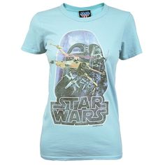 Junk Food Ladies Retro Star Wars T Shirt Turquoise NEW Officially Licensed