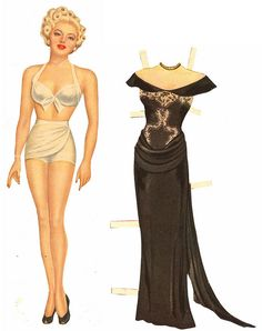 Lana Turner Paper Dolls 1945...these are before my time but I do remember Betsy McCall paper dolls!!