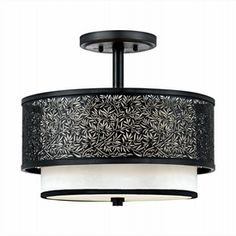 LightingShowroom.com: Utopia Mystic Black Semi-Flush Ceiling Light, $270.00