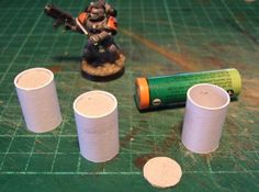 Cut a strip of paper 22mm wide and 210mm long (short edge of normal printer paper 80gsm) AMOS glue stick it around a AA battery, dont glue it to the battery, slide this tube off and leave it overnight to set, they are quite strong.