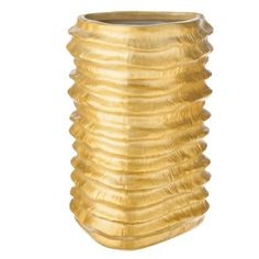 Nate Berkus™ Rounded Triangle Corrugated Vase - Gold 7""